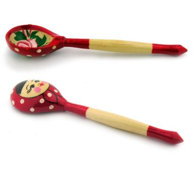 Wooden Khokhloma Hand Painted Spoon 6