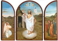 triptych large Pascha - Resurrection of Christ