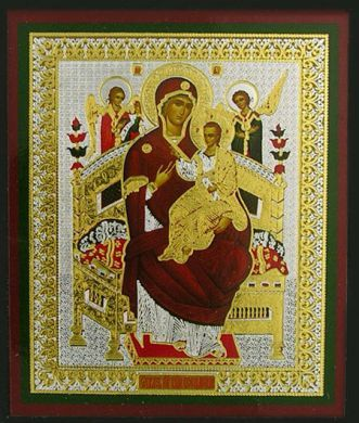 Russian wood icon Mary Tsaritsa (Queen) of All