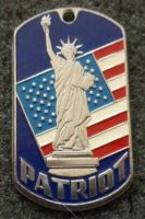 RUSSIAN DOG TAG PENDANT MEDAL USA PATRIOT