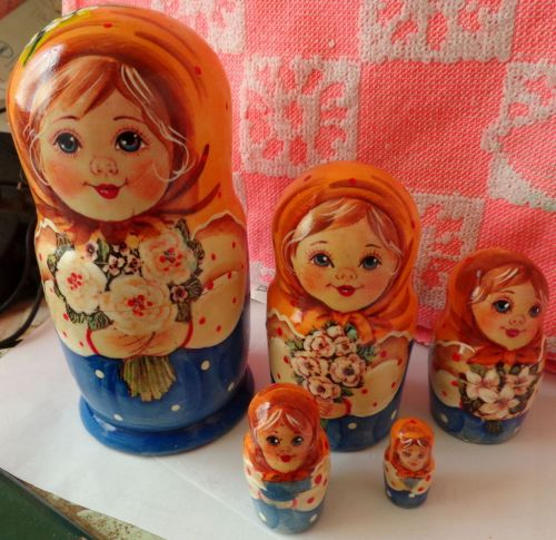 Superb QUALITY RUSSIAN NESTING DOLL 5 PCS LARGE 6.3*