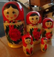 traditional russian  nesting doll  wood  5 pcs.