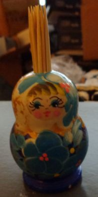 russian wood doll toothpick