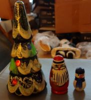 Christmas wood nesting doll 3 pcs.
