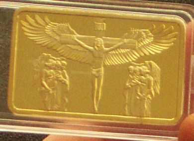 Christ 24KT GOLD GP COLLECTIBLE COIN BAR BULLION
