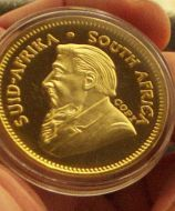 24K Gold-Plated Year 2011 Krugerrand Coin COPY