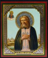 St Seraphim of Sarov RUSSIAN WOODEN ICON